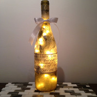 Savior/Prince of Peace/Holy One wine bottle lamp, religious gift, Christmas gift idea, accent lamp, nightlight