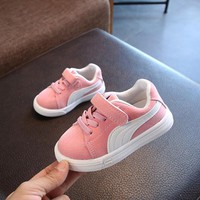 SKHEK  Children Shoes For Girls Boys Kids Mesh Sneakers Flat Baby Breathable Sport Shoes Girls Fashion Sneakers Gray Pink Black