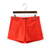 Summer Women's Fashion High Rise With Pocket Shorts [5013334980]