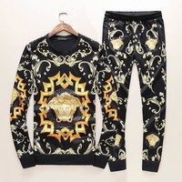 Versace Top Sweater Pullover Pants Trousers Set Two-Piece Sportswear
