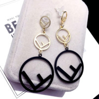 Fendi Fashion New Letter Personality Long Earring Accessories Women
