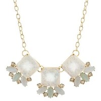 Multi Faceted Opal Statement Necklace by Charlotte Russe
