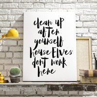 Harry Potter Quote Harry Potter Poster Movie Quote Funny Quote Funny Print Inspirational print Harry Potter art Printable Quote Funny poster