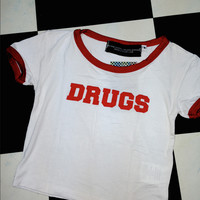 SWEET LORD O'MIGHTY! DRUGS RINGER TEE