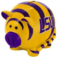 NCAA LSU Tigers Resin Large Thematic Piggy Bank