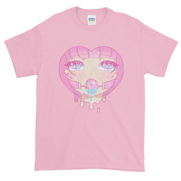 Kawaii Lewd Face Unisex T-Shirt - Made To Order - 2 Colorways