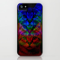 Hipster Cat Art iPhone & iPod Case by Maximilian San