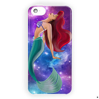 Ariel Little Mermaid On Nebula Purple For iPhone 5 / 5S / 5C Case