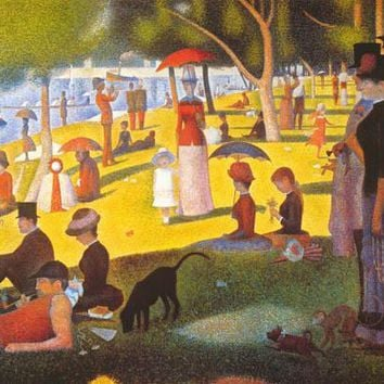 Georges Seurat A Sunday Afternoon Poster 24x36