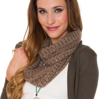 Sinclair Infinity Scarf - Taupe - One Size / Taupe