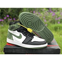 Air Jordan 1 Retro Clay Green Sneaker Shoe