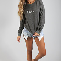 wildfox: baggy beach jumper - baby bella [dirty black]