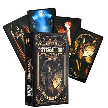 1 Deck 78Pcs Divination The Steampunk Tarot by Barbara Moore (English) Cards Guidebook