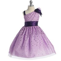 Chic Baby Girl Lilac Sparkle Flower Girl Easter Pageant Dress 2T-12