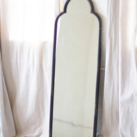 Black Iron Mirror With Arched Top