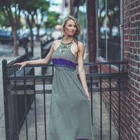 Abstract Print Maxi in Black