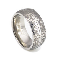 NFL football titanium wedding bands for men-8mm