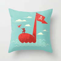 the pirate's song Throw Pillow by Steven Toang