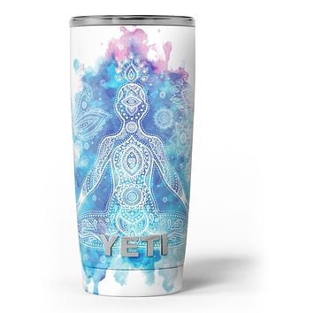 Bright Oil Yoga Mood - Skin Decal Vinyl Wrap Kit compatible with the Yeti Rambler Cooler Tumbler Cups