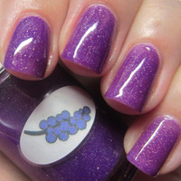 Neon Shimmer Jelly Grape Nail Polish