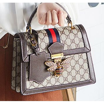 New fashion leather bee large capacity one-shoulder portable messenger female bag