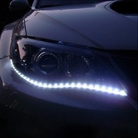 1 Pair Car-styling Car Auto Decorative Flexible LED Strip 12V 30cm 15SMD Car LED Daytime Running Light Car LED Strip Light DRL