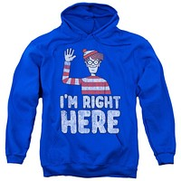 Where's Waldo I'm Right Here Adult Hoodie