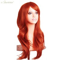 SNOILITE Women 23inch Hallowee Wig Synthetic Hair Long Curly Cosplay Wigs Purple Natural Black Pink Red White Orange Blonde