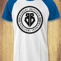 The Adventures of, Buckaroo Banzai  Institute Logo Baseball Raglan Tee - zLi Unisex Tees For Man And Woman / T-Shirts / Custom T-Shirts / Tee / T-Shirt