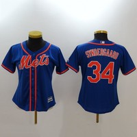 Women's MLB  Buttons Baseball Jersey  HY-17N11Y34D