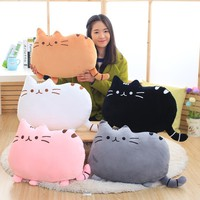 1 pcs 40*30cm plush toys stuffed animal doll toy pusheen Kawaii Brinquedos Pusheen cat Pillow Biscuits Kids Toys Peluche