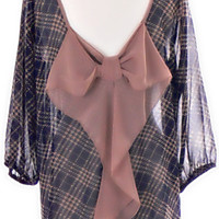 PERFECTLY PREPPY BOW BACK