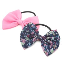 With Love From CA Bow Multi Hair Tie - Womens Jewelry - Pink - One