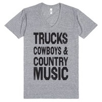 My Loves (Country life Vneck)-Unisex Athletic Grey T-Shirt