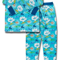 Airplanes Organic Cotton Long Sleeve Pajama Set