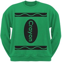 Halloween Crayon Costume Irish Green Adult Sweatshirt