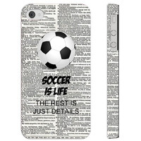 SudysAccessories Soccer Is Life The Rest Is Just Details On Dictionary iPhone 4 Case iPhone 4S Case - SoftShell Full Plastic Direct Printed Graphic Case