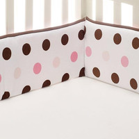 Kids Line Velour Polka Dot Crib Bumper