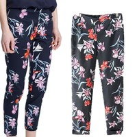 Fashion Stylish Print Chiffon Summer Ladies Pants = 5840329409