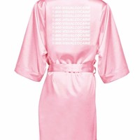 Hotline Satin Robe by Visual Cocaine