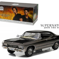 1967 Chevrolet Impala Sport Sedan Black Chrome Edition Supernatural (TV Series 2005) 1-18 Diecast Model Car  by Greenlight