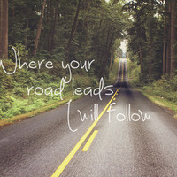 Where your road leads I will follow Art Print by Dena Brender