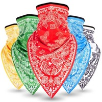 CKAHSBI Summer Cycling Half Face Mask Outdoor Sports Scarf Cycling Bandana Triangle Ice Headwear Bike Facemask Handband Scarf