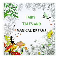 Fairy Tales and Magical Dreams Adult Coloring Book - 24 Pages