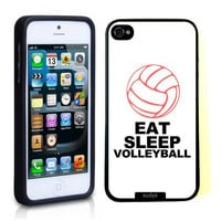 SudysAccessories Eat Sleep Volleyball Thinshell Case Protective iPhone 5 Case iPhone 5S Case