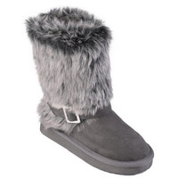 Hailey Jeans Co. Girls Buckle Accent Faux Fur Boots|Meijer.com