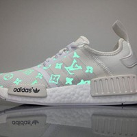 PEAPNW6 Sale Louis Vuitton LV x Adidas Consortium NMD White Luminous BA7245 Boost Sport Running Shoes Casual Shoes Sneakers