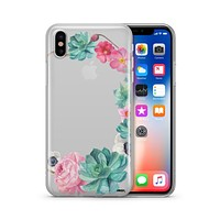 Watercolor Succulent - Clear TPU - iPhone Case