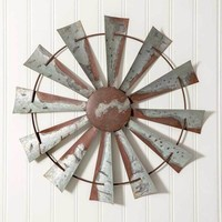 Rustic Farm House Country Style Windmill Wall Hanging Decorative Sculpture Decor