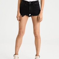 AE Denim X High-Waisted Short Short, Black And